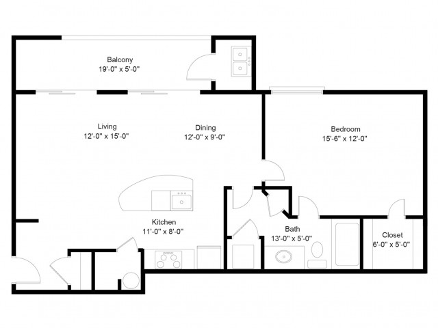 1 bed 1 bath apartment in alexandria va the encore for Rembrandt homes floor plans