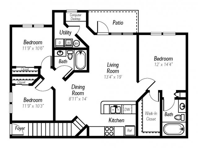 3 bed 2 bath apartment in fort myers fl ashlar