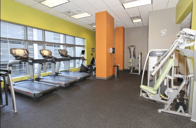 State of the art 24/7 fitness center, conference room, business center and spa services.