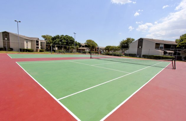 It's easy to be active with the community fitness center and tennis court