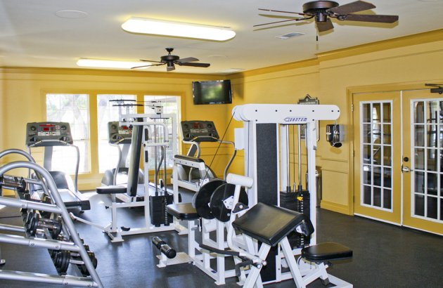 Work out in the fitness center complete with cardio equipment, free weights and weight machines