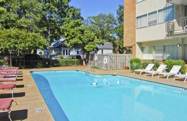 Enjoy the outdoor scenery of midtown with balconies in most apartment homes