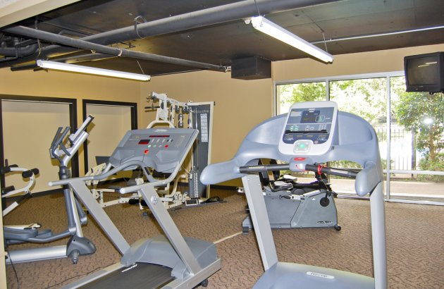 Get fit in Rosecrest's newly remodeled fitness facility open 24 hours a day