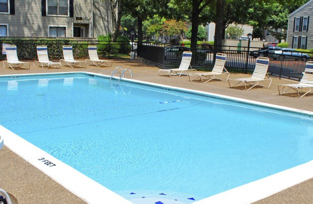 Spend a sunny morning or relaxing afternoon by the community swimming pool