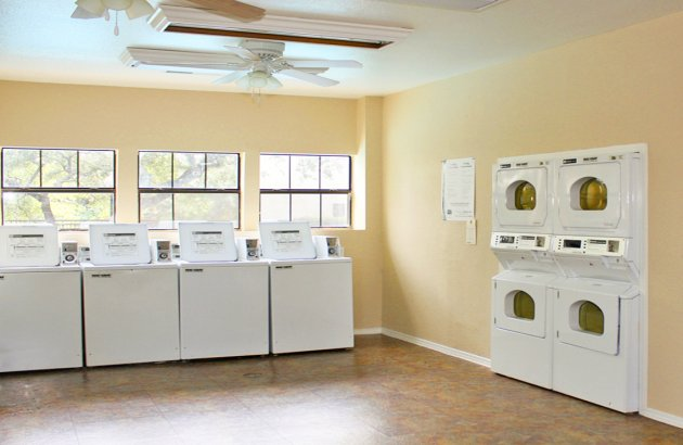 Laundry day is a breeze with washer and dryer connections and a laundry care center