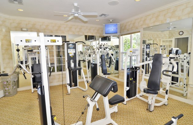 Get fit with access to the community's 24 hr fitness center