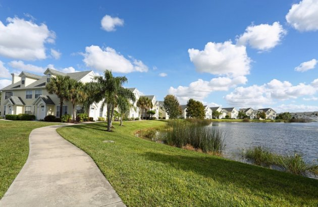 Enjoy the views on the walking path around the community's beautiful lake