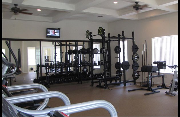 Take advantage of the community fitness center with machines and free weights