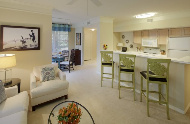 Choose from our spacious one, two, and three bedroom floor plans