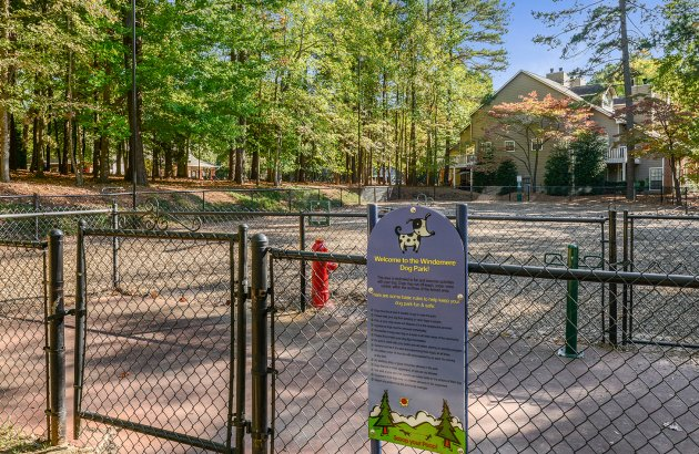 Fun for your furry friends includes a dog park with agility course