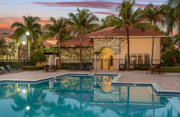 Enjoy a warm morning or afternoon by the community resort-style pool