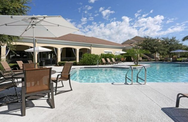Spend a warm morning or sunny afternoon by the community pool