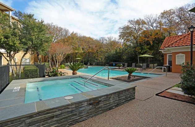 Grab your swimsuit and unwind in the community hot tub