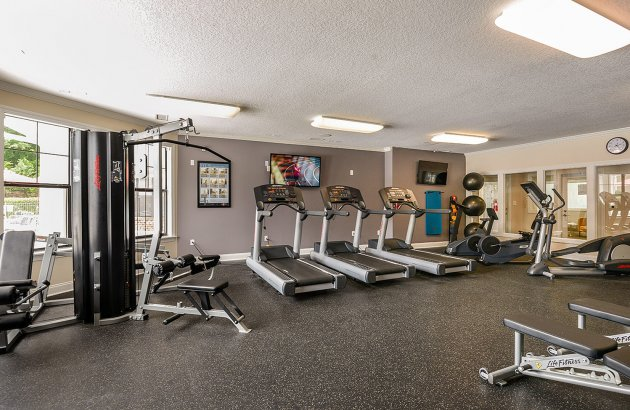 Enjoy 24 hr access to River Birch's Fitness Center and Sauna