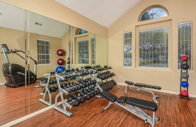 Take advantage of the community fitness center, tennis, playground, and more