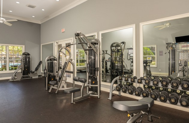 Take advantage of the fitness center, tennis court, and sport court