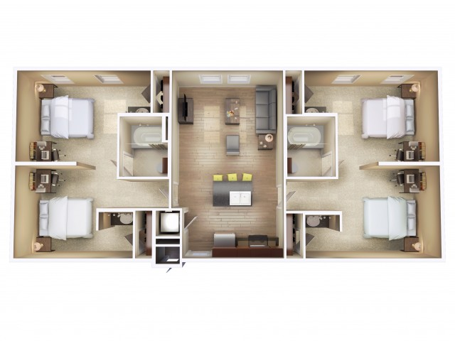 Stadium View Student Housing In Bozeman - View floor plans