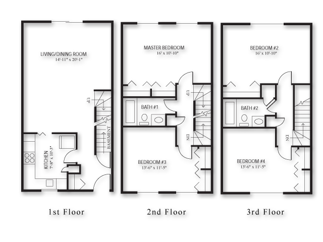 100 townhouse floor plan ideas townhouse floor plan philippines homes zone plans of - Bedroom townhouse plans ...