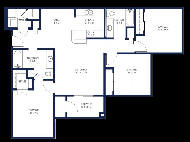 Three Bedroom/ Two Bathroom