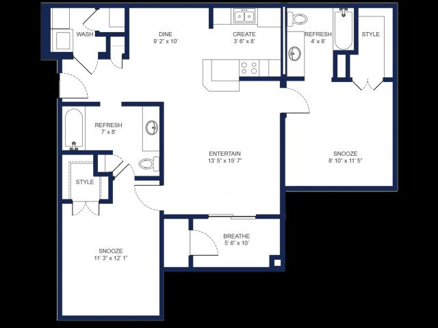 2 Bedroom/ 2 Bathroom