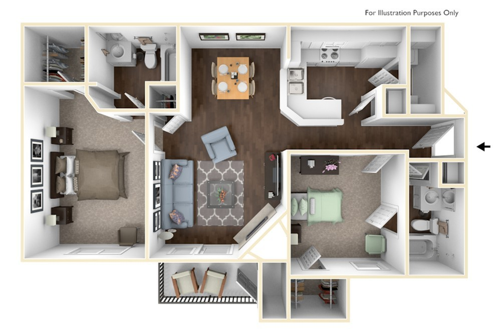 Two Bedroom/Two Bathroom