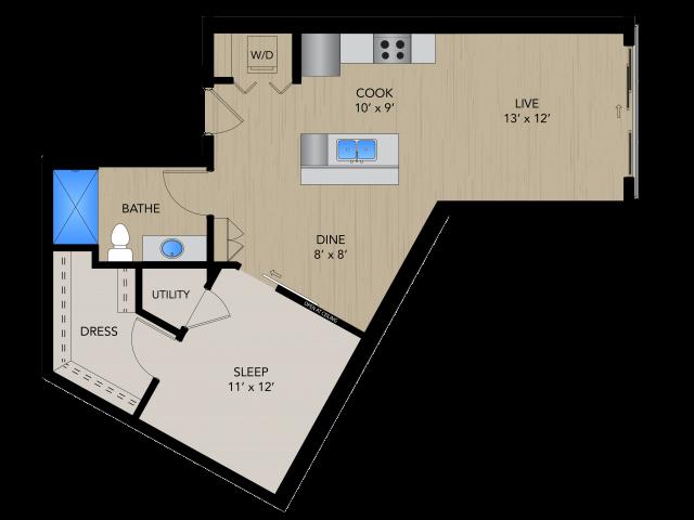 Floor Plan SA   1505 Apartments   Apartments in Grafton, WI