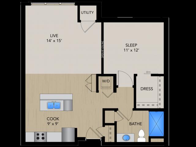 Floor Plan SC   1505 Apartments   Apartments in Grafton, WI
