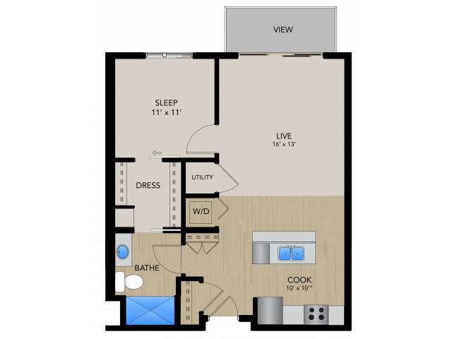 Floor Plan 1A   1505 Apartments   Apartments in Grafton, WI