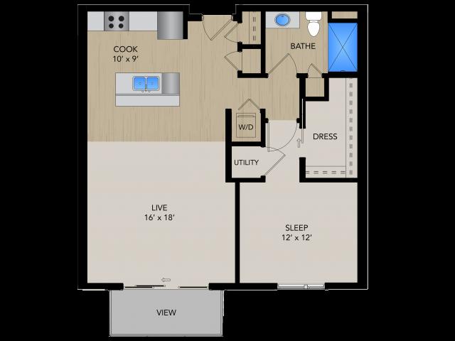 Floor Plan 1C   1505 Apartments   Apartments in Grafton, WI