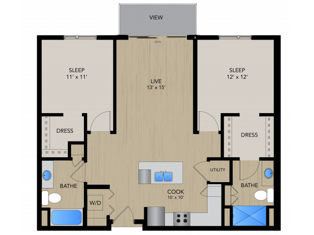 Floor Plan 2A   1505 Apartments   Apartments in Grafton, WI