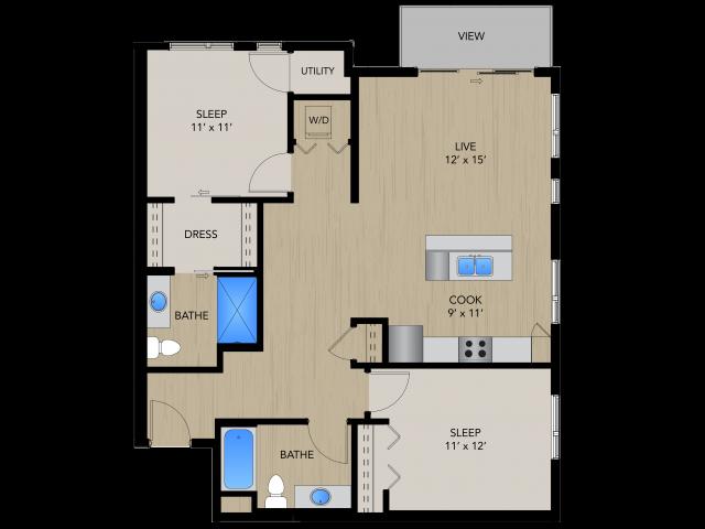 Floor Plan 2C   1505 Apartments   Apartments in Grafton, WI