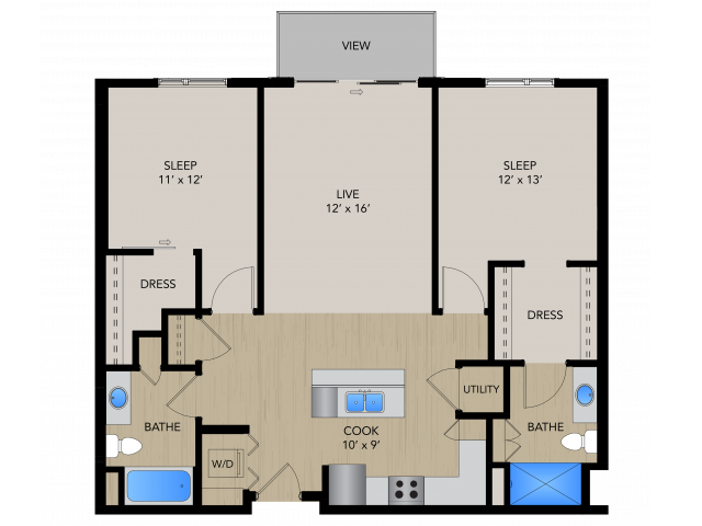 Floor Plan 2D   1505 Apartments   Apartments in Grafton, WI
