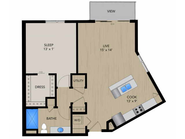 Floor Plan 1D   1505 Apartments   Apartments in Grafton, WI