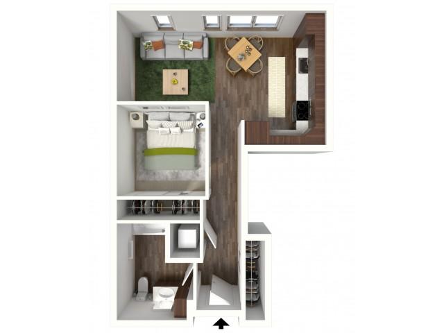 Floor Plan A2 | Jade at North Hills | Apartments in Menomonee Falls, WI