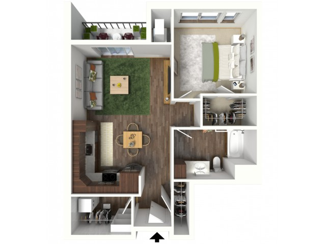 Floor Plan B1.1 | Jade at North Hills | Apartments in Menomonee Falls, WI