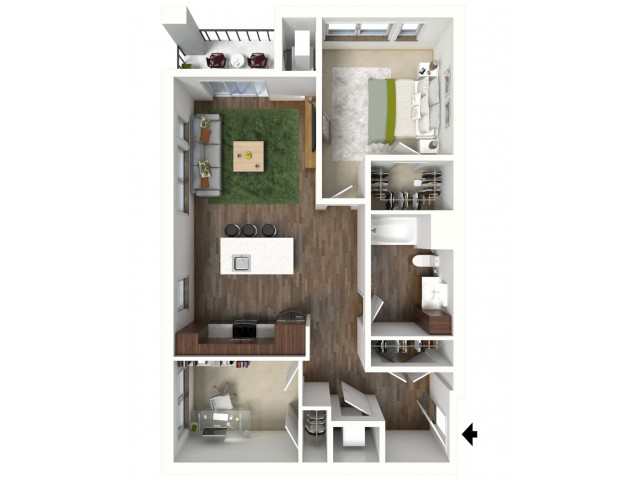 Floor Plan C1 | Jade at North Hills | Apartments in Menomonee Falls, WI