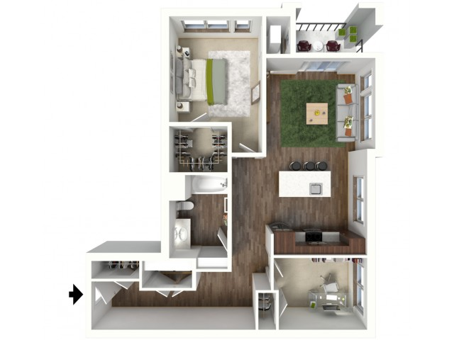 Floor Plan C1.1 | Jade at North Hills | Apartments in Menomonee Falls, WI