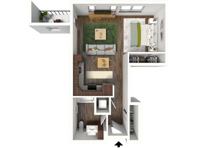 Floor Plan A1 | Jade at North Hills | Apartments in Menomonee Falls, WI