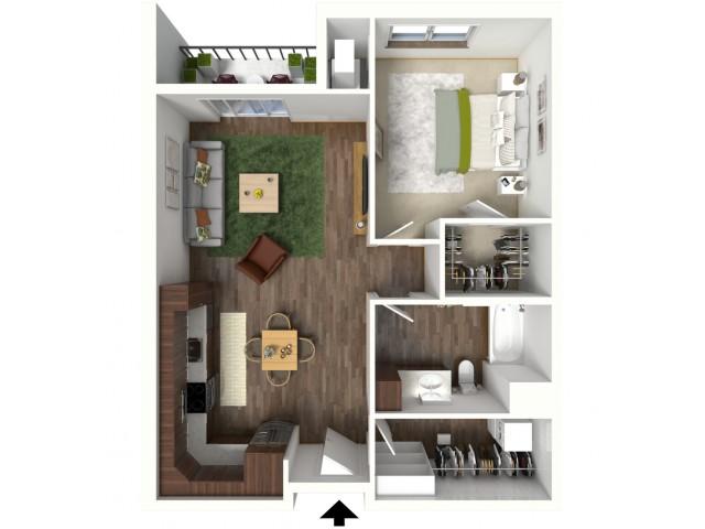 Floor Plan B1 | Jade at North Hills | Apartments in Menomonee Falls, WI
