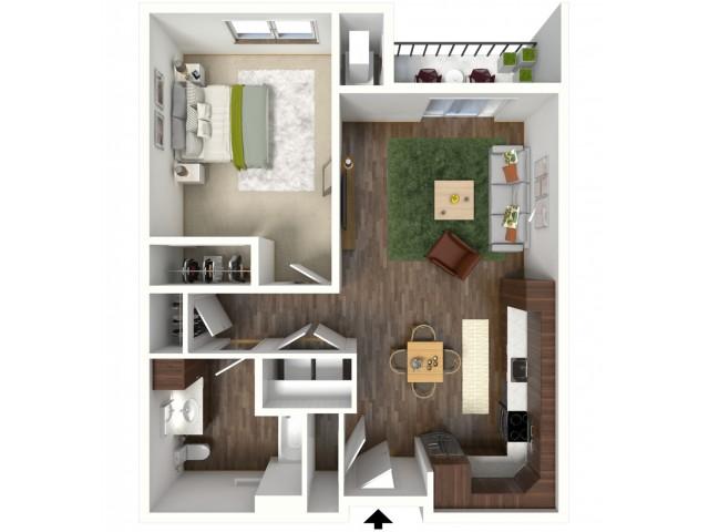 Floor Plan B1A | Jade at North Hills | Apartments in Menomonee Falls, WI