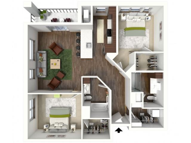 Floor Plan D1 | Jade at North Hills | Apartments in Menomonee Falls, WI