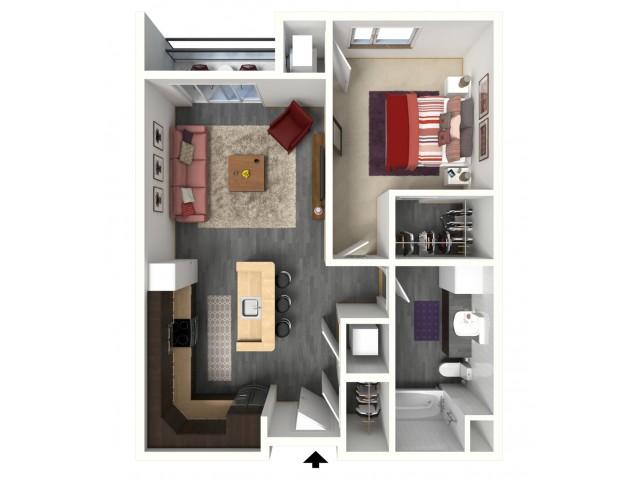 Floor Plan B1   1505 Apartments   Apartments in Grafton, WI