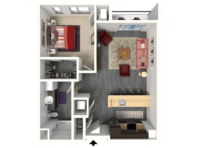 Floor Plan B2   1505 Apartments   Apartments in Grafton, WI