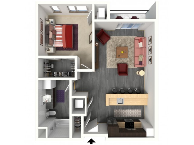 Floor Plan B2.1   1505 Apartments   Apartments in Grafton, WI