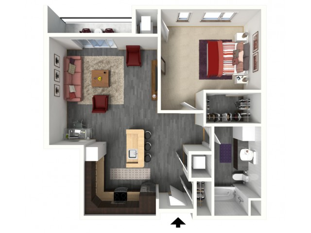 Floor Plan B3   1505 Apartments   Apartments in Grafton, WI
