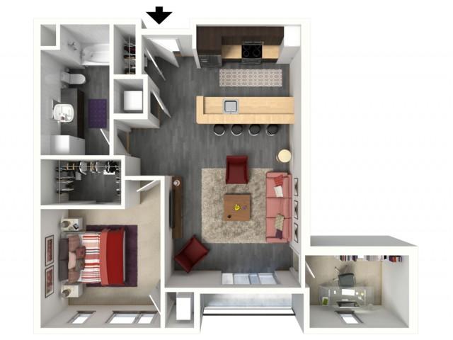 Floor Plan C1   1505 Apartments   Apartments in Grafton, WI