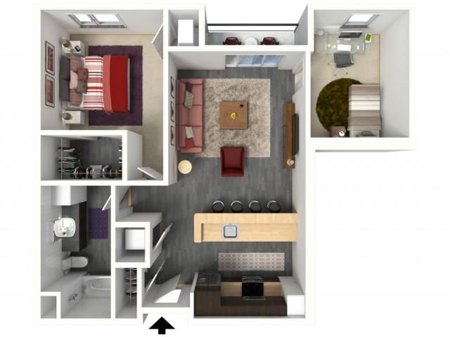 Floor Plan C2   1505 Apartments   Apartments in Grafton, WI