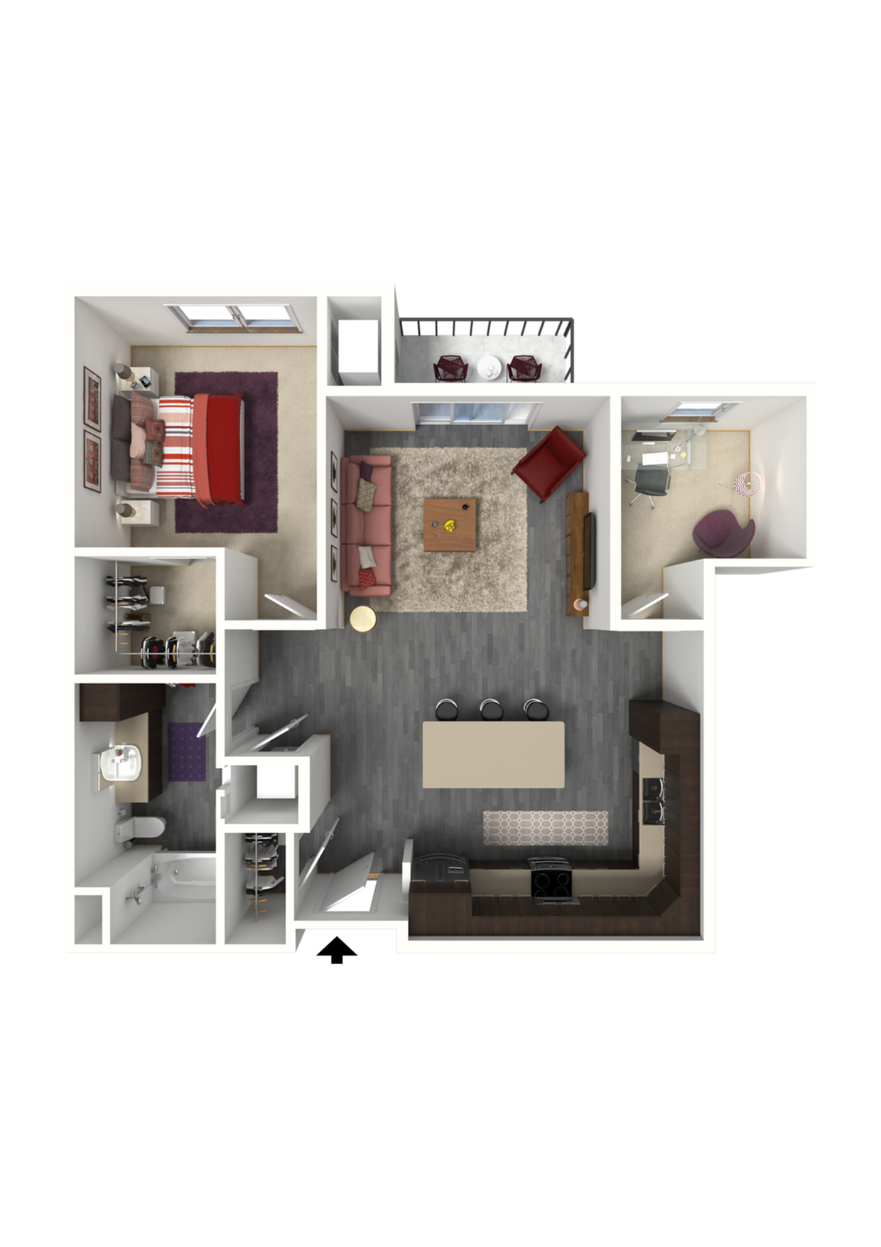 Floor Plan C7 | 1 Glenn Place | Apartments in Fitchburg, WI