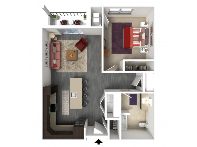 Floor Plan B5A | 1 Glenn Place | Apartments in Fitchburg, WI