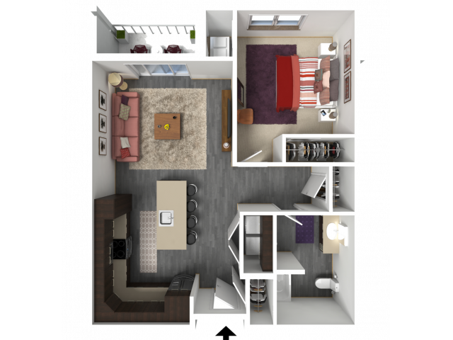 Floor Plan B4A | 1 Glenn Place | Apartments in Fitchburg, WI